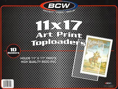 200 New BCW 11X17 Art Print Toploaders Poster Menu Photo Holder