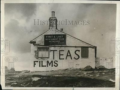 1929 Press Photo First and last refreshment house in England. Lands End, Cornwal