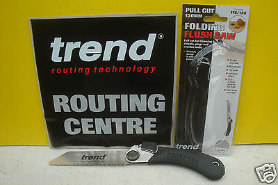 Trend 120Mm Folding Flush Cutting Saw Ffs/120 + 3 Carpenters Pencils