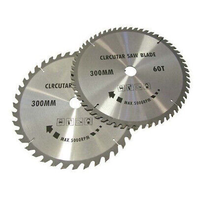 2Pc 300Mm Tct Circular Saw Blades 40 & 60 Teeth With Adapter O Rings Chop