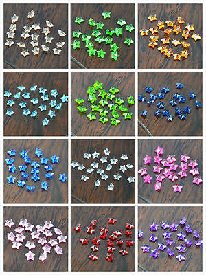 10PCS Lot of Colorful Star Birthstone Charm family Living floating memory Locket