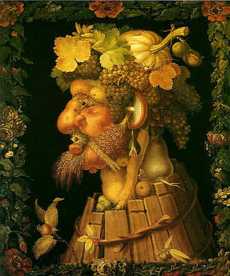 Huge Oil Giuseppe Arcimboldo The Autumn with fruits old man portrait art canvas