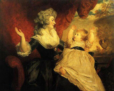 Oil Joshua Reynolds - The Duchess of Devonshire and her Child in landscape art