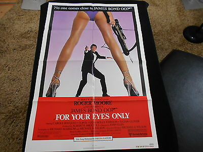 For Your Eyes Only  Original One Sheet   James Bond 007  Roger Moore