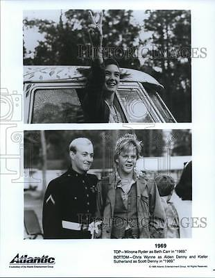 1988 Press Photo 1969 movie with Winona Ryder,Chris Wynne and Kiefer Sutherland