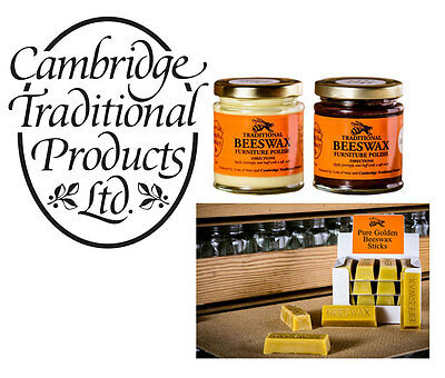 Cambridge Traditional Products Beeswax Wood Furniture Polish and Beeswax Sticks