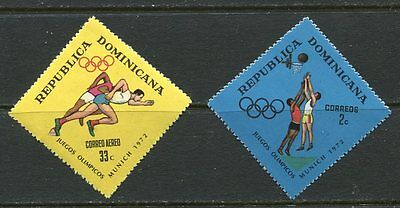 Dominican Republic 1972 Olympic Basketball And Running Complete Set !