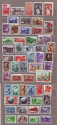 1948 1949 Nice Lot of 54 different Mint Unused Russian stamps Russia