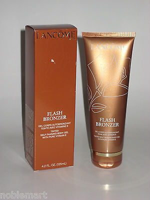 Lancome Flash Bronzer Tinted Self Tanning Body Gel 4.2 Oz With Pure Vitamin E