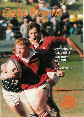 Gala Sevens 1996 Rugby Programme