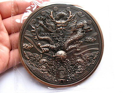 Excellent 2012 Year of the Dragon Lunar Zodiac Large Bronze Medal 90mm