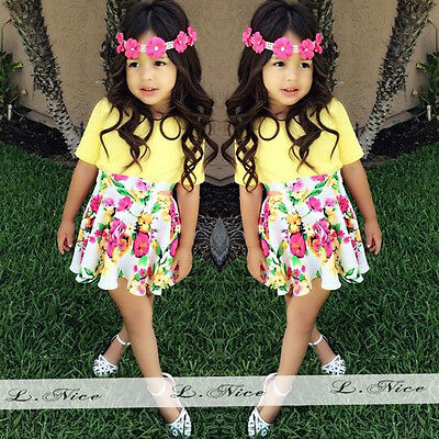 2015 Hot Sell New Baby Girls Short Sleeve Summer Dress  Fit 1-6Y J15