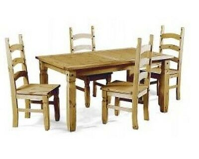 """Corona 5'0"""" Dining Table and 4 Chairs Mexican Pine Set by Mercers Furniture®"""