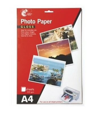 Chiltern Wove A4 Gloss Photo Paper 12 Sheets 235 gsm For All Inkjet Printers