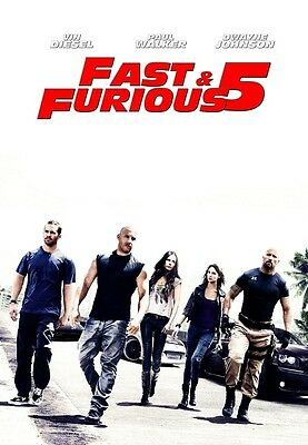 FAST FIVE movie poster print (c) VIN DIESEL, PAUL WALKER, FAST and the FURIOUS