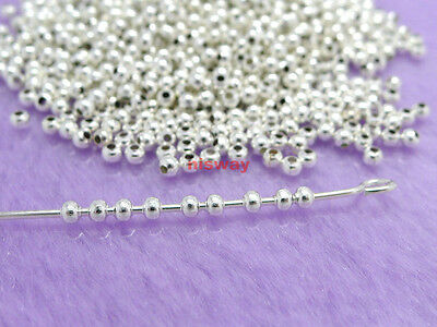 Wholesale lots 500 Pcs Silver Plated Metal Spacer Beads 2mm
