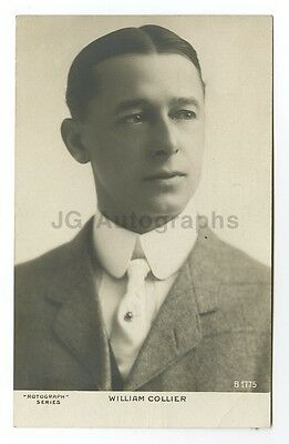 William Collier, Sr. - American Writer, Actor - Vintage Silver Print Postcard