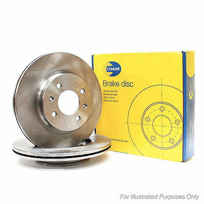 Comline Front Brake Discs Pair Genuine OE Quality Service Replacement