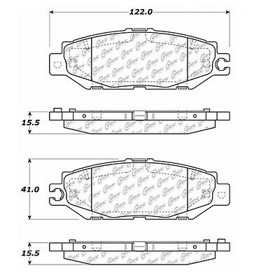 Disc Brake Pad-Posi-Quiet Extended Wear w/Shims and Hrdwr Rear fits 93-00 LS400