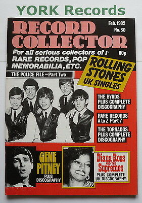 RECORD COLLECTOR MAGAZINE - Issue 30 February 1982 - Stones / Gene Pitney