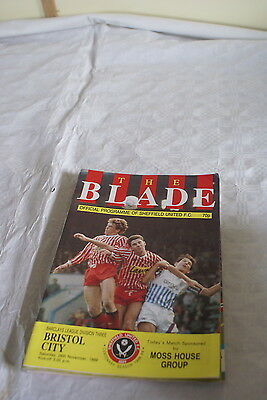 Sheffield United V Bristol city 26 November 1988