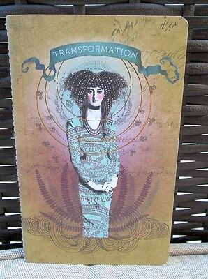 Unusual Lined Transformation Papaya Art Journal Small Purse Notepad Notebook