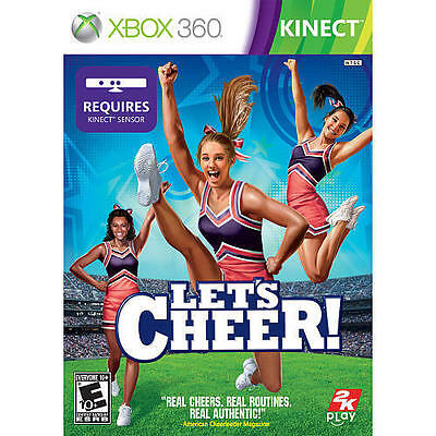 XBOX 360 KINECT LET'S CHEER NEW  CHEERLEADING VIDEO GAME