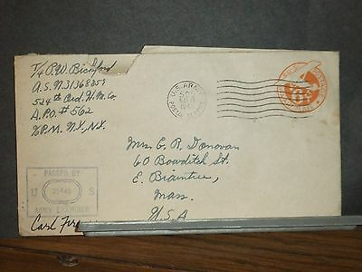 APO 562 DEAUVILLE, FRANCE 1945 Army Cover 524th ORD HM Co SOLDIER's MAIL