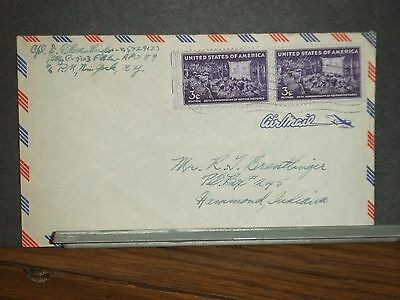 APO 89 FRANCE of GERMANY WWII Army Cover 563 FA Bn SOLDIER's MAIL