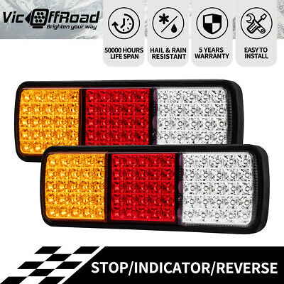 PAIR LED Tail Stop Indicator Combination Lamp Submersible Light 12V ADR 75LED