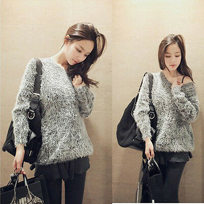 Fashion Women Knitted Thick Casual Loose Pullover Jumper Sweater Knitwear Tops