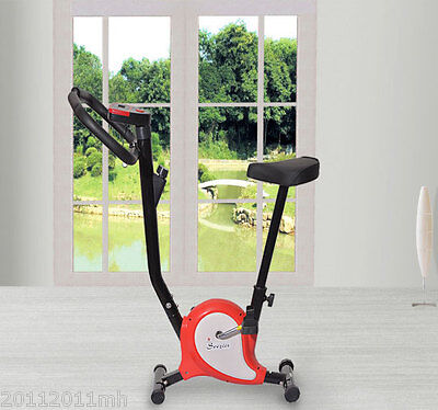 Fitness Upright Exercise Indoor Belt Drive Bike LCD monitor Sport Cycling New