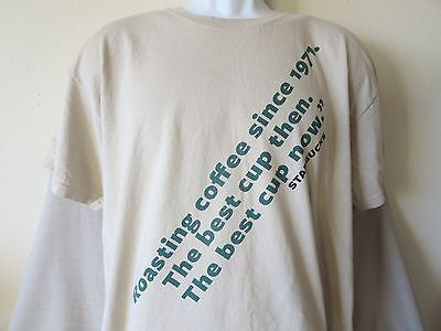 Rare STARBUCKS Pikes Place 1971 Heritage T-Shirt Tax Coffee Siren Size Large