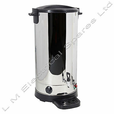 Stainless Steel Tea Urn 35 Litre Electric Catering Hot Water Boiler 2500w