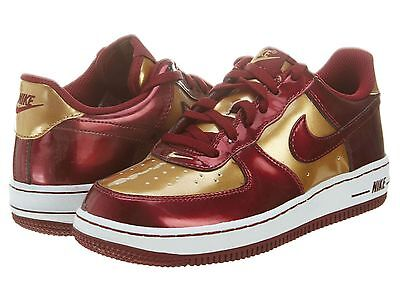 NIKE AIR FORCE 1 (PS) LITTLE KIDS 314193-601 Iron Man Red Shoes Youth Size 2.5