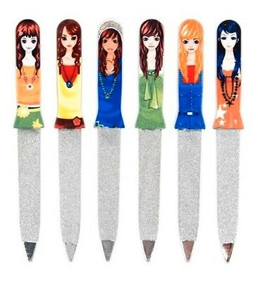 Glam Girl Nail Files Rounded head 6 Designs By Kikkerland