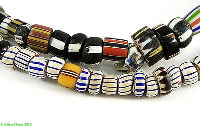 Venetian Trade Beads Mixed Strand Striped African