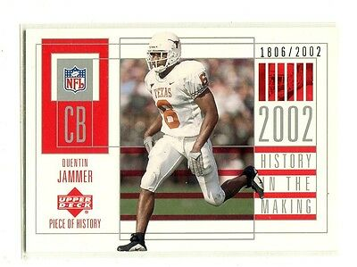 2002 UD Piece of History #133 Quentin Jammer/2002 Texas Longhorns