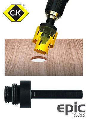 CK Holesaw Drill Centre Pilot Pin Enlarging Adaptor,Fits All Saw Sizes, T3216