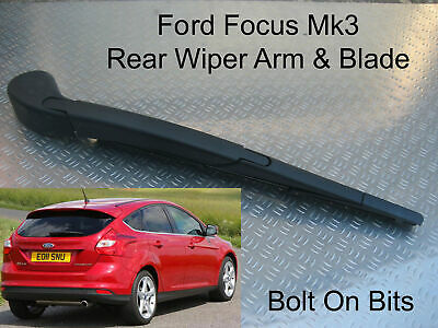Rear Wiper Arm & Blade Ford Focus 2011 2012 2013 2014 2015 Hatchback TDCi etc