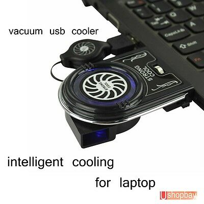 Laptop Vacuum Air Extract Blowing Wind Cooling Fan Notebook USB Cooler Pad