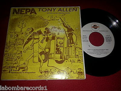 "TONY ALLEN with AFROBEAT 2000 Never Expect Power Always 7"" Promo SPAIN EX-/EX- 2"