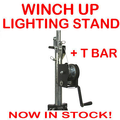 Pro Winch Up Lighting Tripod Stage Studio Light Speaker Truss DJ Stand inc T Bar