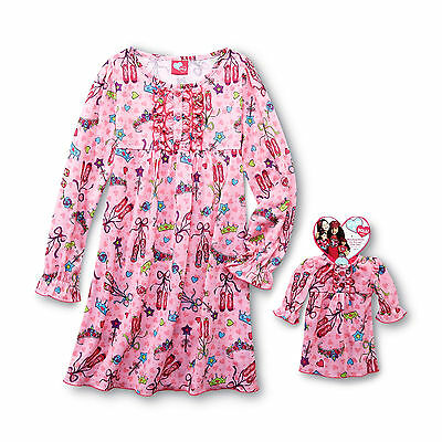 7/8 Matching American Girl Doll Nightgown Dollie & Me and Ballerina pjs Fits 18""