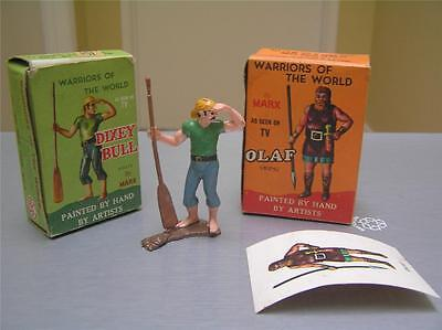 Lot of 2 Warriors of the world by Marx Dixey Bull boxed and Olaf box and sheet