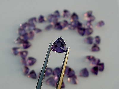 Amethyst trillion loose faceted natural gem 6mm