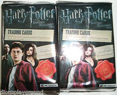 2011 Artbox Entertainment Harry Potter and the Deathly Hallows,Part 2 6 pack lot