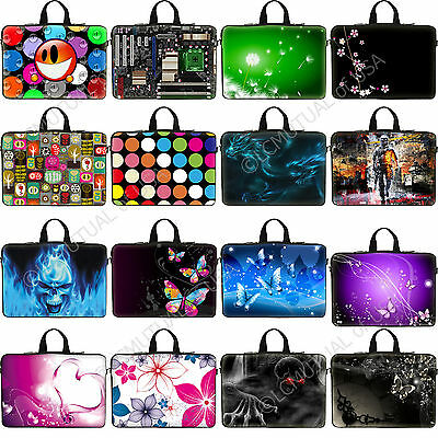 """15"""" 15.6"""" inch Laptop Notebook Computer Neoprene Sleeve Bag Case Dell Asus"""