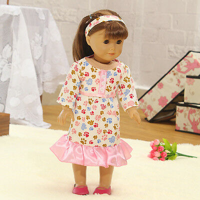 Hot Handmade lovely dress clothes for 18 inch American Girl Doll b100