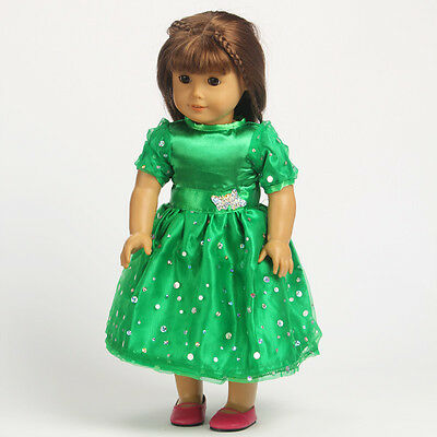 2014 Hot Handmade lovely dress clothes for 18 inch American Girl Doll b107
